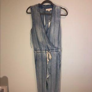 Jean jumpsuit.